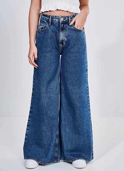 Calça Wide Leg em Jeans Escuro - youcom: vem cá conferir suas peças  favoritas